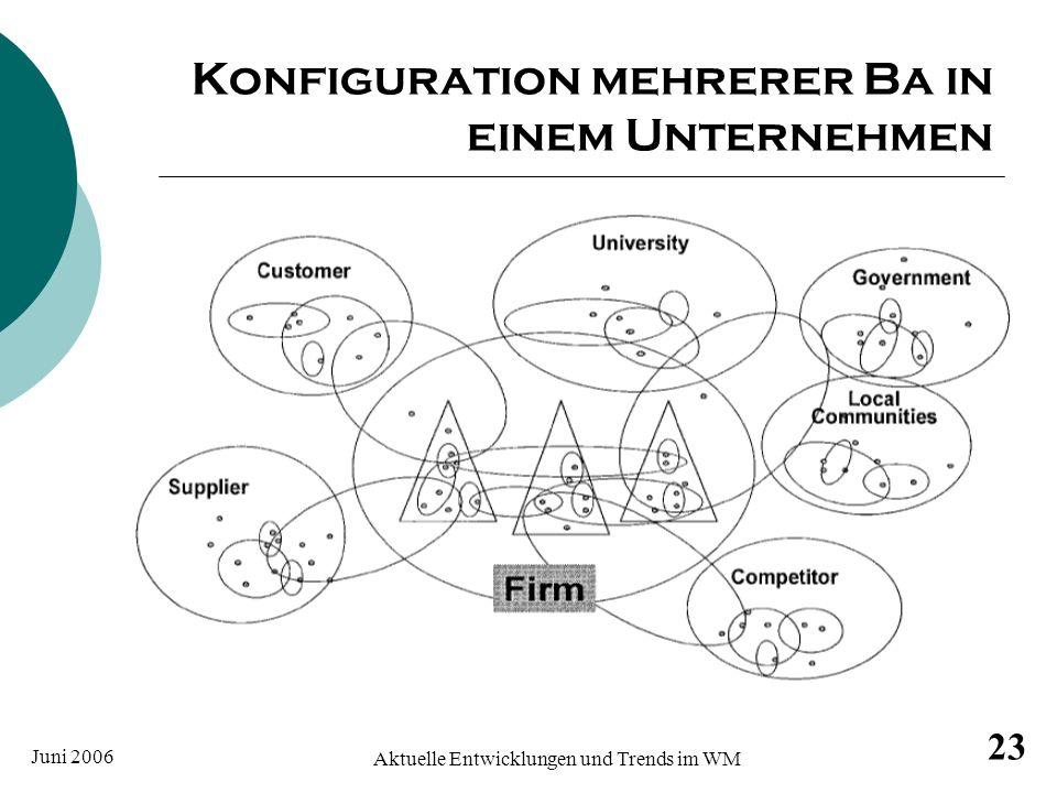 Juni 2006 Aktuelle Entwicklungen und Trends im WM 23 Konfiguration mehrerer Ba in einem Unternehmen