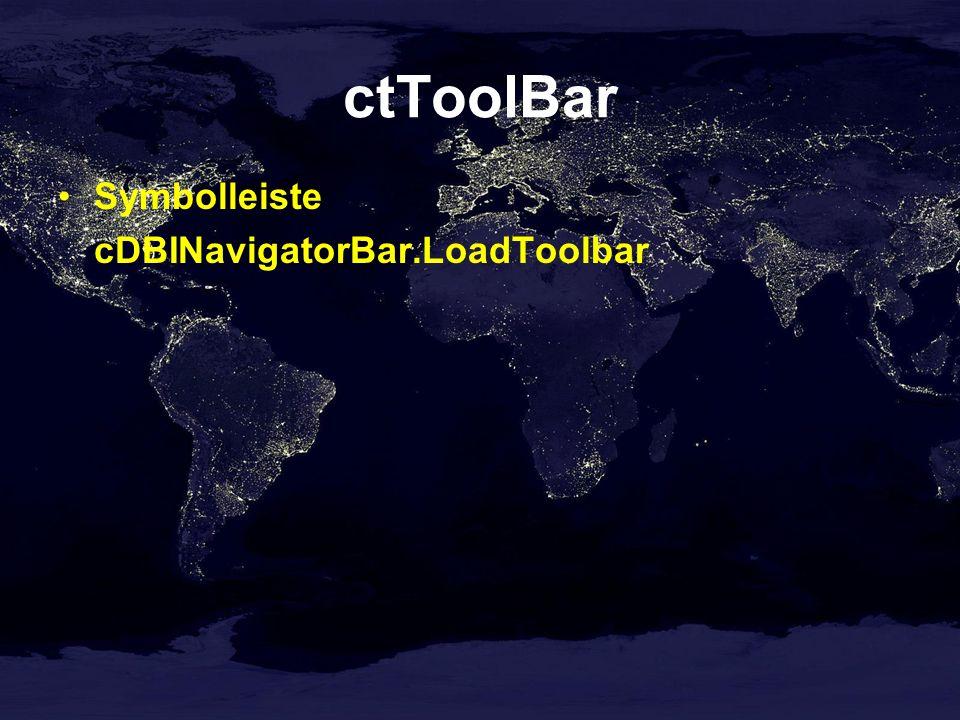 ctToolBar Symbolleiste cDBINavigatorBar.LoadToolbar