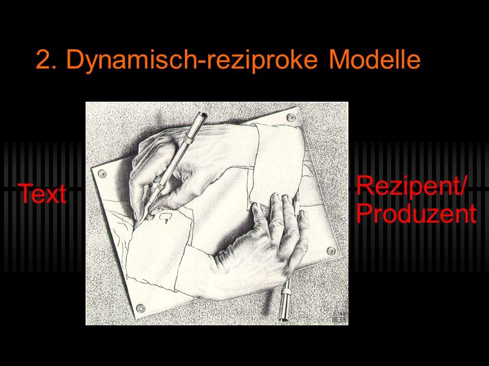 2. Dynamisch-reziproke Modelle Rezipent/ Produzent Text (c) Escher, Hände