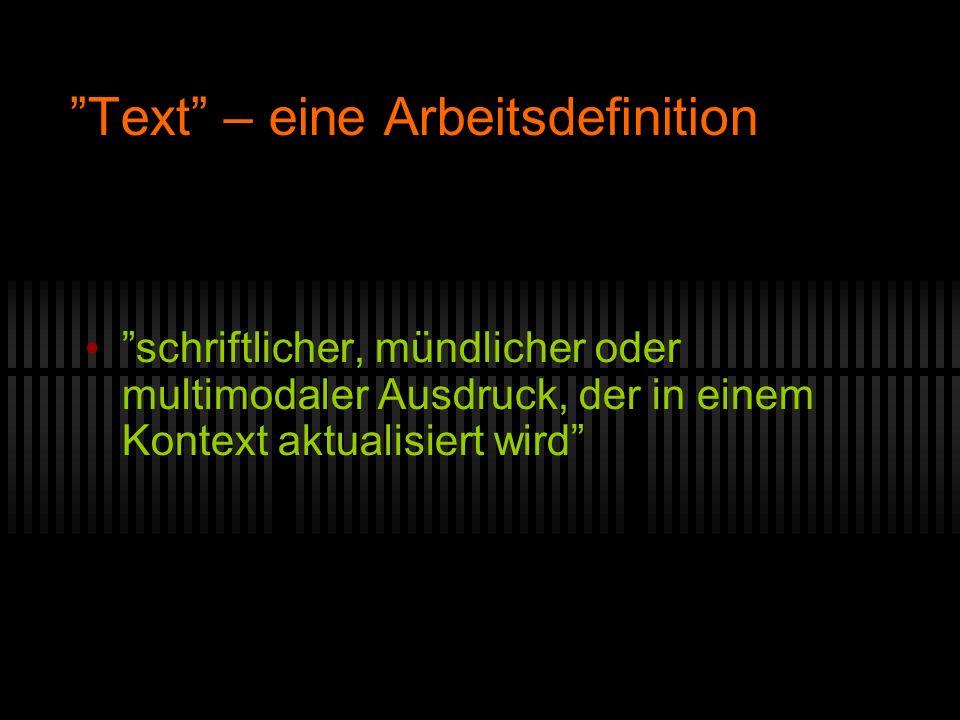 Wie funktioniert Text.Textuelle Kommunikation 1.