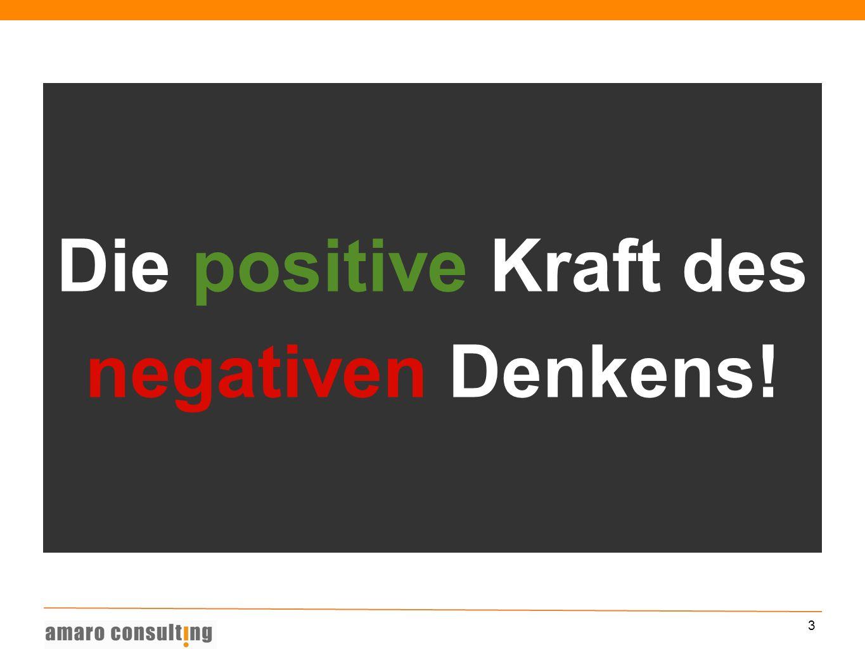 3 Die positive Kraft des negativen Denkens!