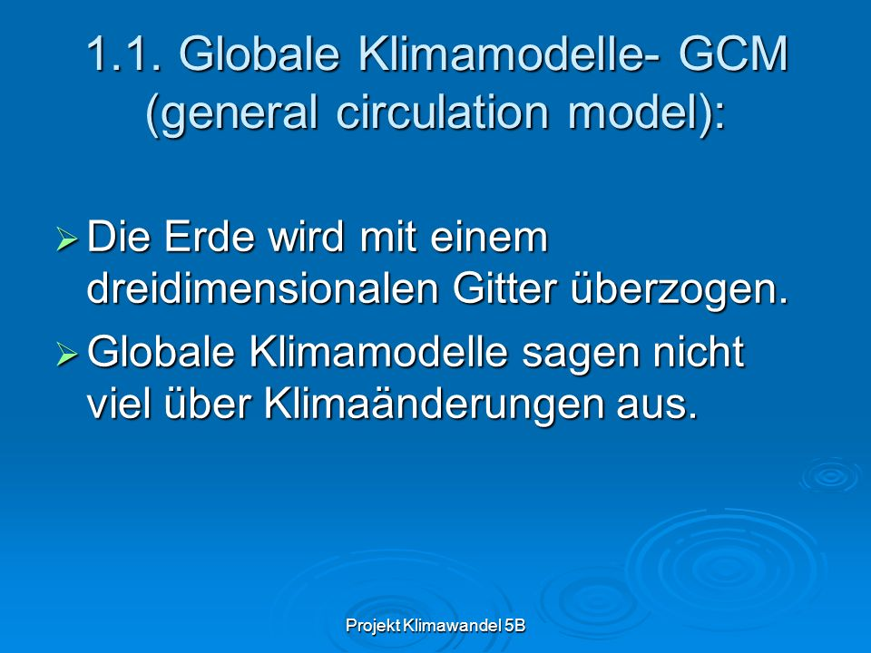 Projekt Klimawandel 5B 1.2.