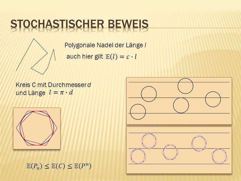 Polygonale Nadel der Länge l auch hier gilt Kreis C mit Durchmesser d und Länge
