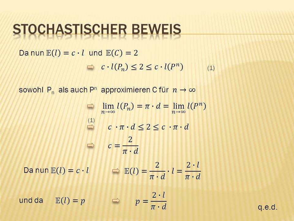 Da nun und (1) sowohl P n als auch P n approximieren C für (1) Da nun und da q.e.d.