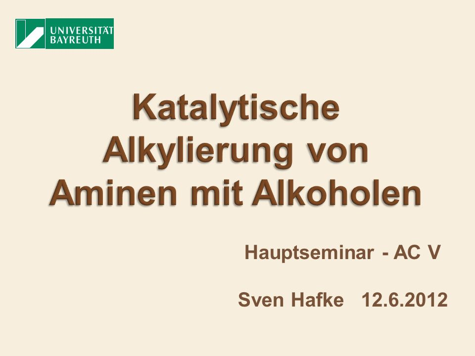 1.Vorkommen von Aminen in der Natur 2. Organische Synthesemethoden 3.
