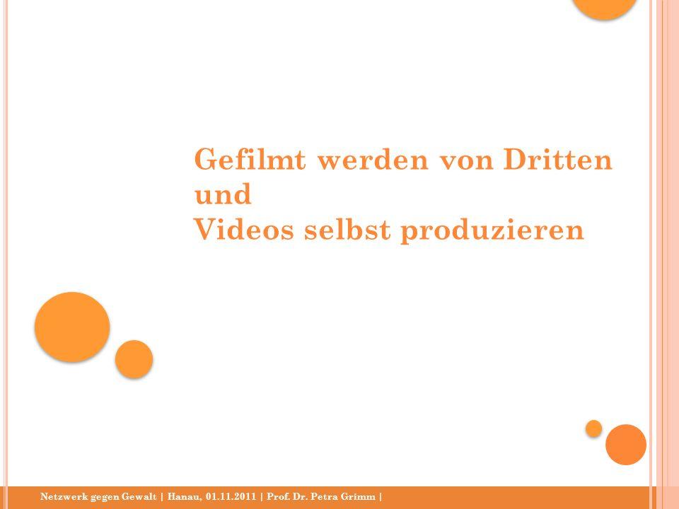 Netzwerk gegen Gewalt | Hanau, 01.11.2011 | Prof. Dr. Petra Grimm | Gefilmt werden von Dritten und Videos selbst produzieren