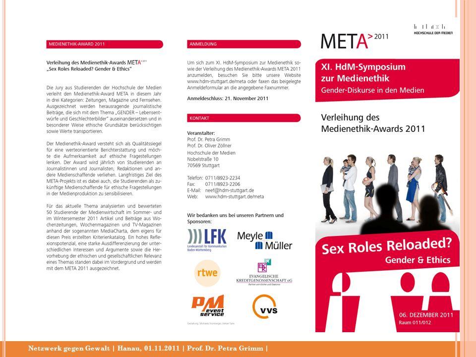 Netzwerk gegen Gewalt | Hanau, 01.11.2011 | Prof. Dr. Petra Grimm |