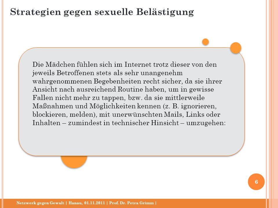 Netzwerk gegen Gewalt   Hanau, 01.11.2011   Prof. Dr. Petra Grimm  