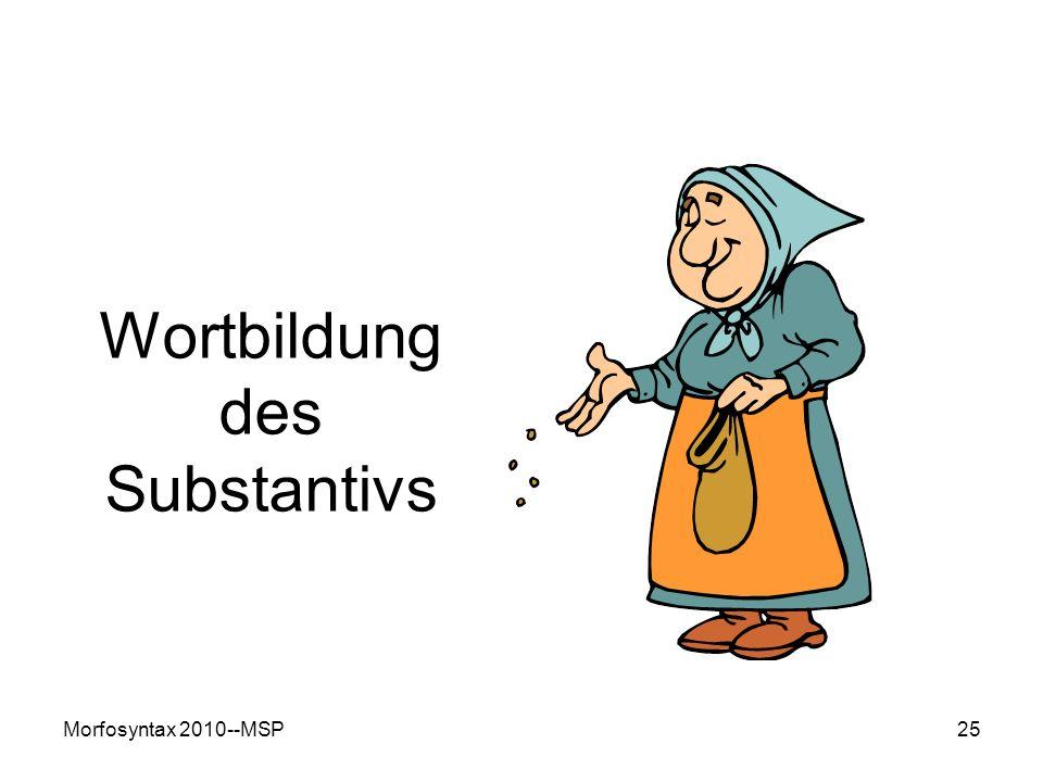 Morfosyntax 2010--MSP25 Wortbildung des Substantivs