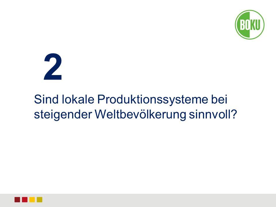 2 Sind lokale Produktionssysteme bei steigender Weltbevölkerung sinnvoll