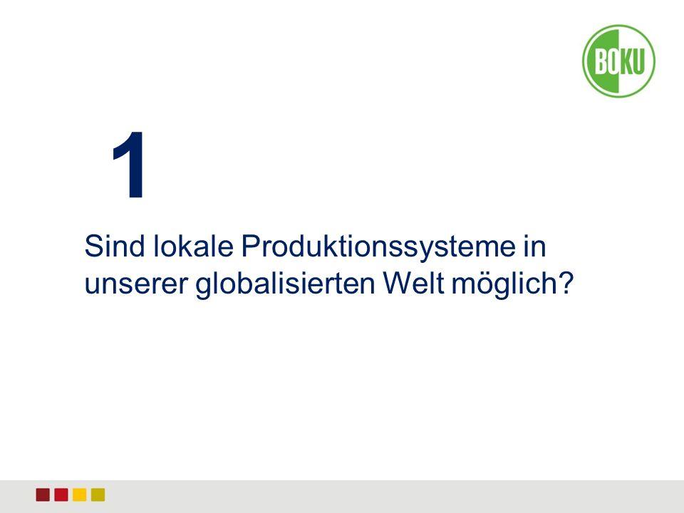 1 Sind lokale Produktionssysteme in unserer globalisierten Welt möglich