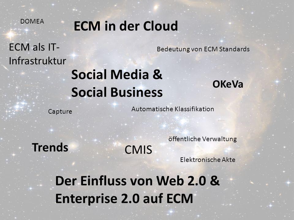Von ECM zu Social BusinessPanel-Diskussion DMS EXPO 2011Moderation Dr. Ulrich Kampffmeyer 3 Der Einfluss von Web 2.0 & Enterprise 2.0 auf ECM ECM in d