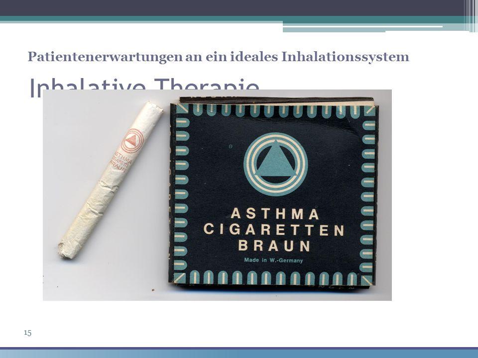 Inhalative Therapie Patientenerwartungen an ein ideales Inhalationssystem 15
