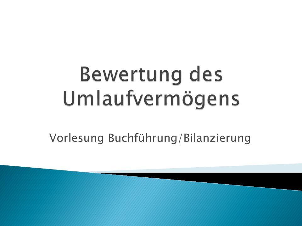 Vorlesung Buchführung/Bilanzierung