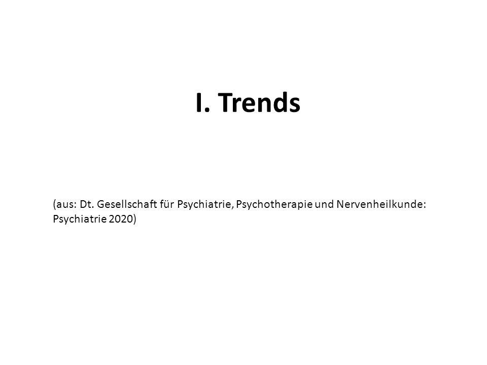 I. Trends (aus: Dt. Gesellschaft für Psychiatrie, Psychotherapie und Nervenheilkunde: Psychiatrie 2020)