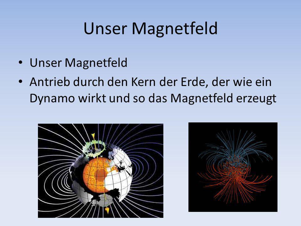Unser Magnetfeld Antrieb durch den Kern der Erde, der wie ein Dynamo wirkt und so das Magnetfeld erzeugt