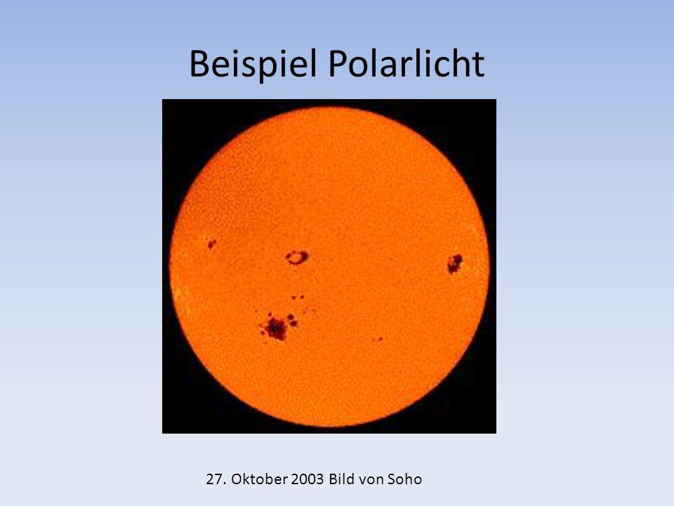 Beispiel Polarlicht 27. Oktober 2003 Bild von Soho