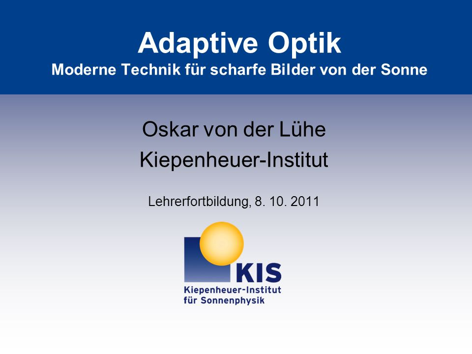 Prinzip der Adaptiven Optik
