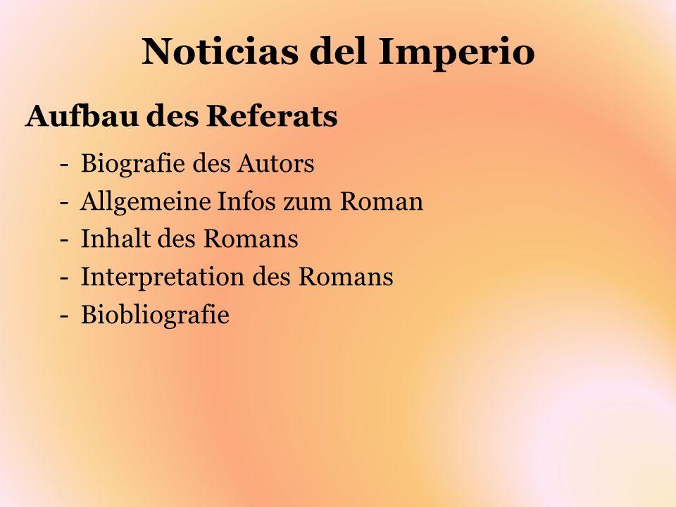 Noticias del Imperio Biografie des Autors Fernando del Paso Morante