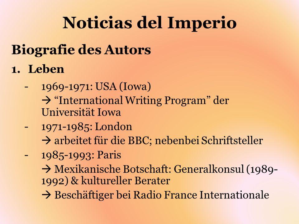 Noticias del Imperio Interpretation des Romans -Realität vs.