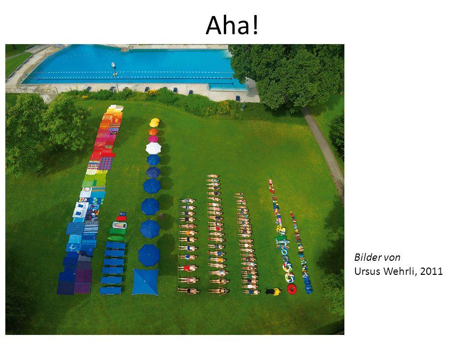 Aha! Bilder von Ursus Wehrli, 2011