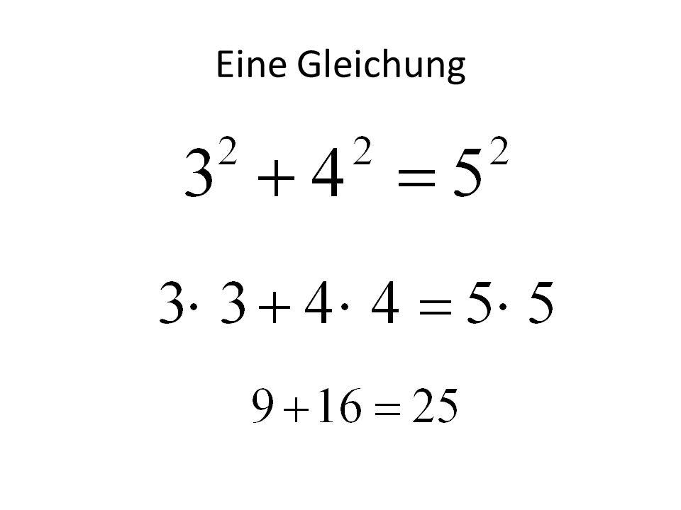 Eine Gleichung