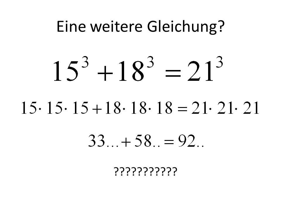 Eine weitere Gleichung? ???????????