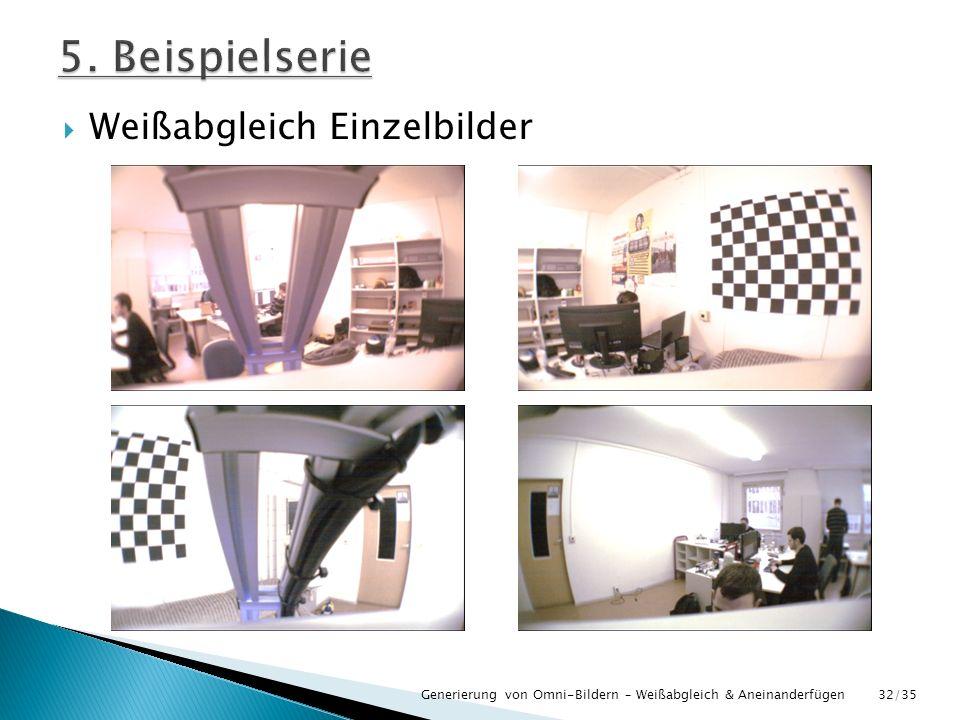 Weißabgleich Einzelbilder Generierung von Omni-Bildern – Weißabgleich & Aneinanderfügen32/35