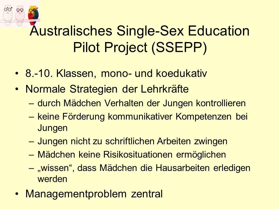 Australisches Single-Sex Education Pilot Project (SSEPP) 8.-10.