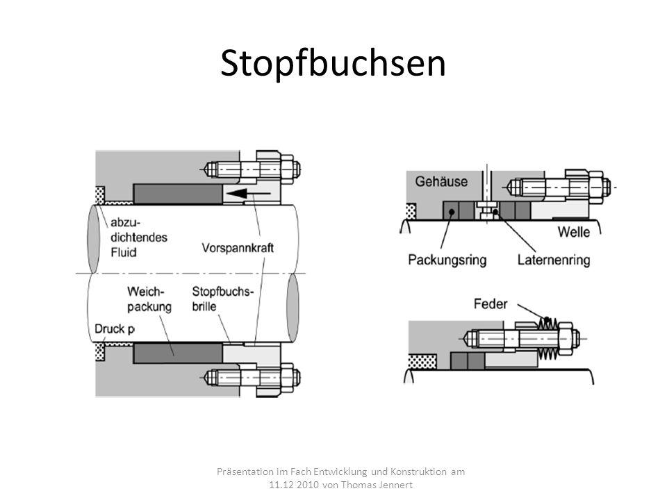Stopfbuchsen Präsentation im Fach Entwicklung und Konstruktion am 11.12 2010 von Thomas Jennert