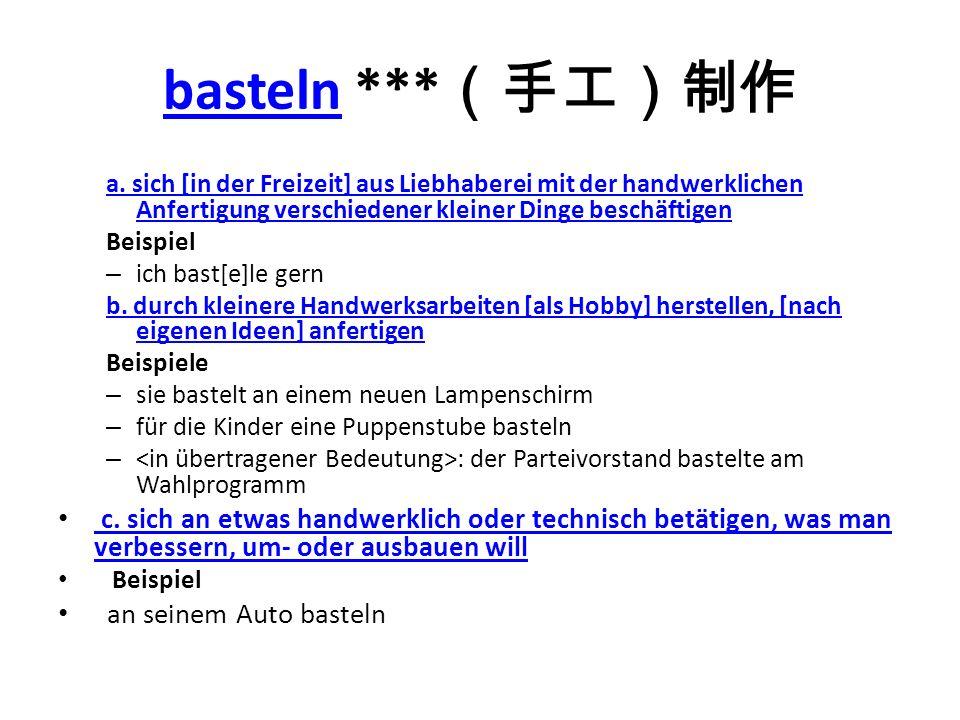 bastelnbasteln *** a.