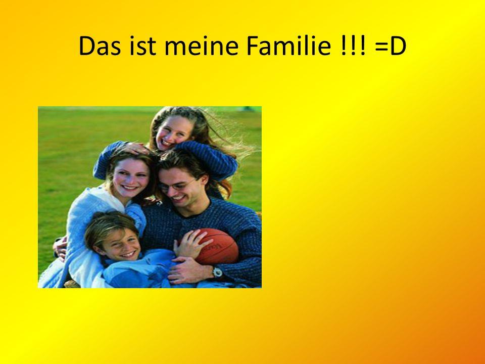 Ich und meine Familie Wir sind Anna und Christine.