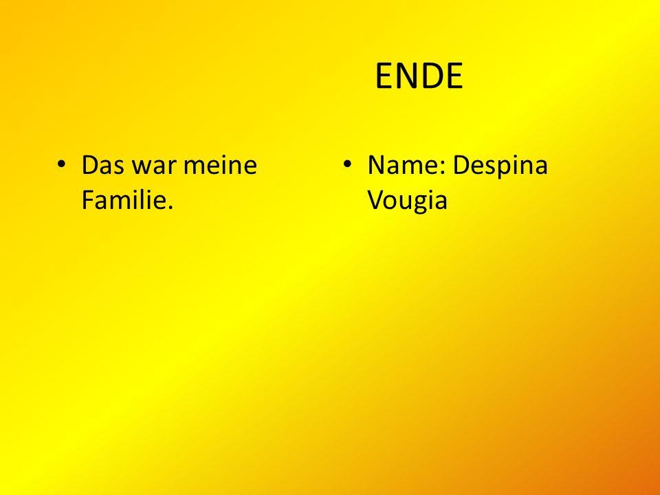 ENDE Das war meine Familie. Name: Despina Vougia
