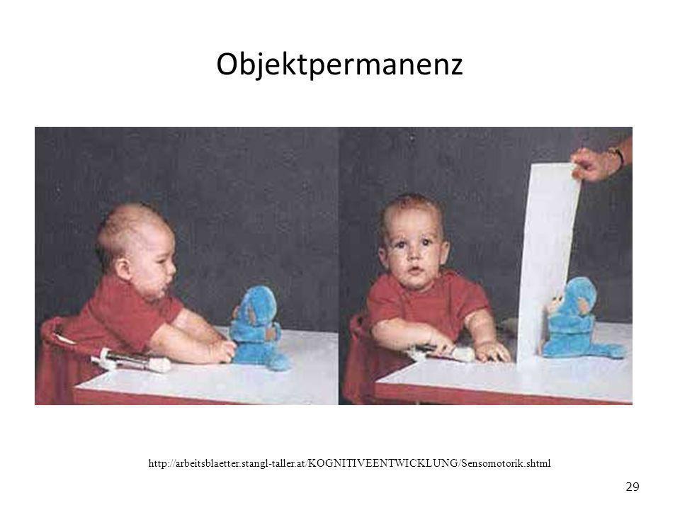 Objektpermanenz 29 http://arbeitsblaetter.stangl-taller.at/KOGNITIVEENTWICKLUNG/Sensomotorik.shtml