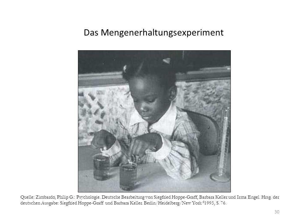 30 Quelle: Zimbardo, Philip G.: Psychologie. Deutsche Bearbeitung von Siegfried Hoppe-Graff, Barbara Keller und Irma Engel. Hrsg. der deutschen Ausgab