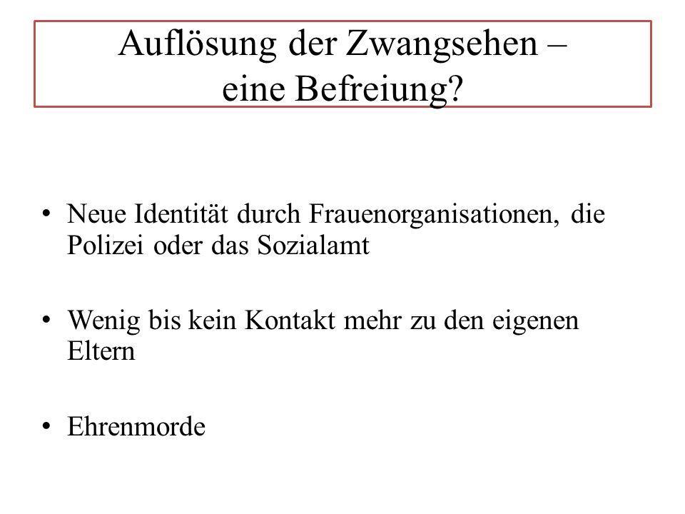 Auflösung der Zwangsehen – eine Befreiung.