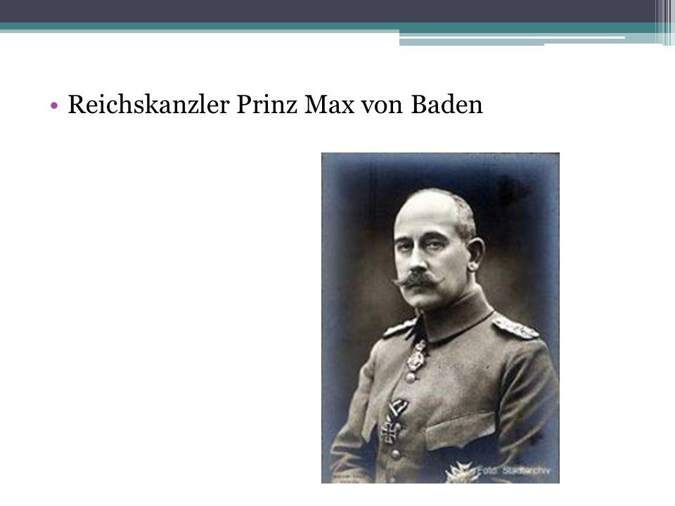 Reichskanzler Prinz Max von Baden