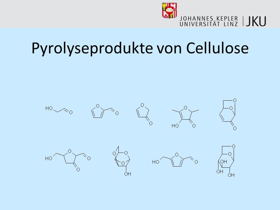 Pyrolyseprodukte von Lignin