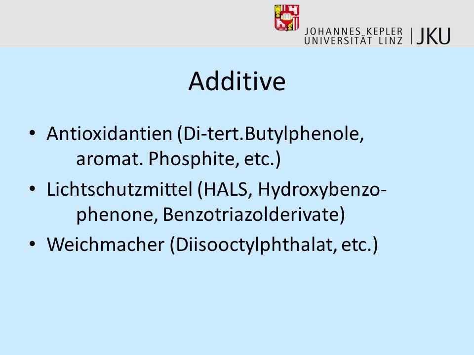 Additive Antioxidantien (Di-tert.Butylphenole, aromat.