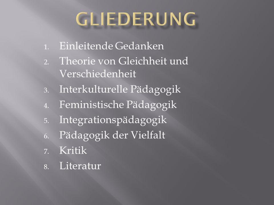 1.Einleitende Gedanken 2. Theorie von Gleichheit und Verschiedenheit 3.