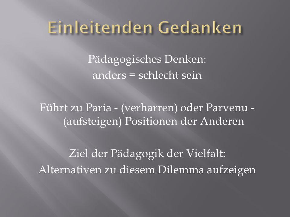 Zentrale Probleme der Sonderpädagogik 1.Behinderungsbegriff 2.
