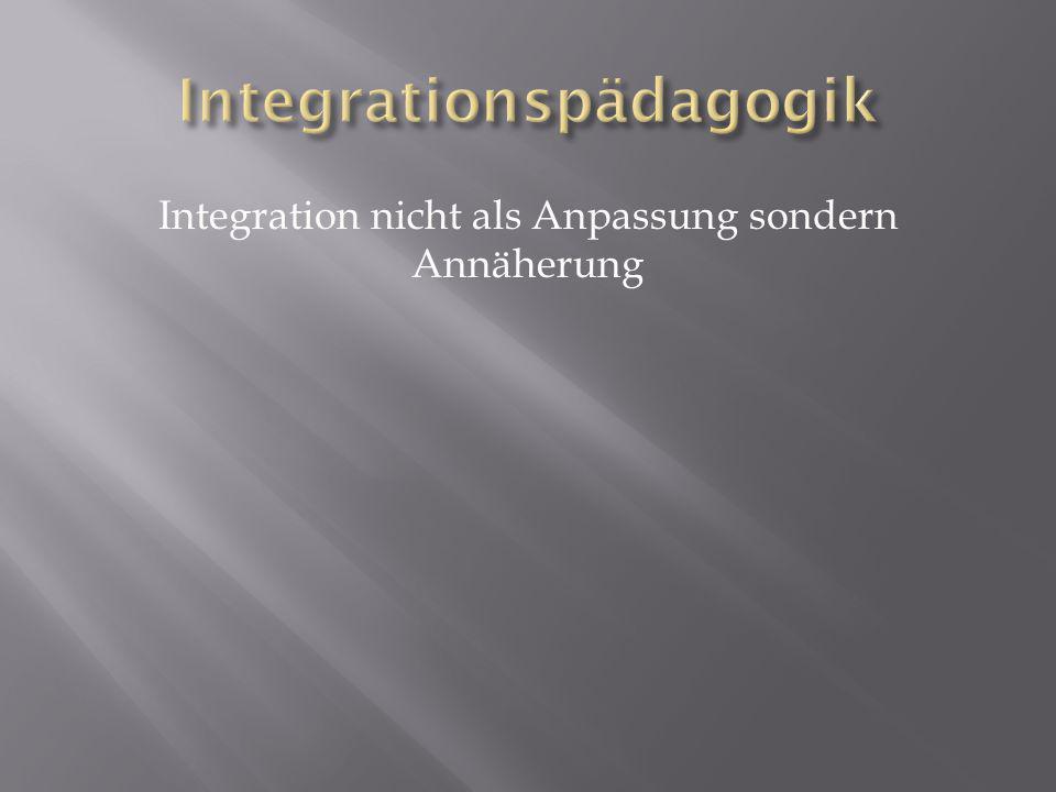 Integration nicht als Anpassung sondern Annäherung
