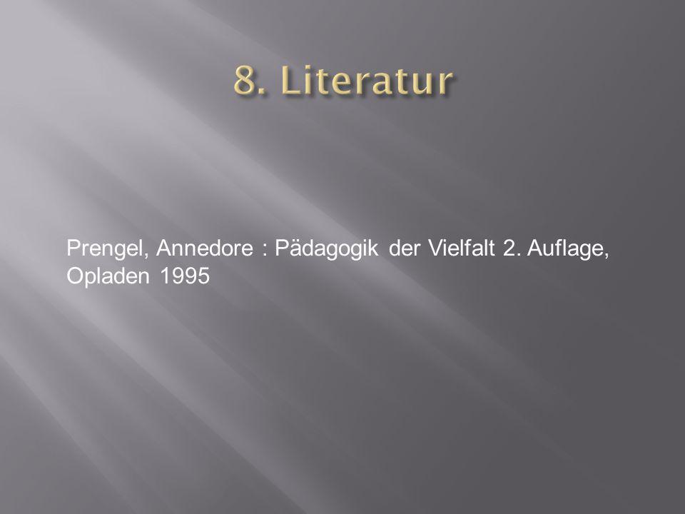 Prengel, Annedore : Pädagogik der Vielfalt 2. Auflage, Opladen 1995