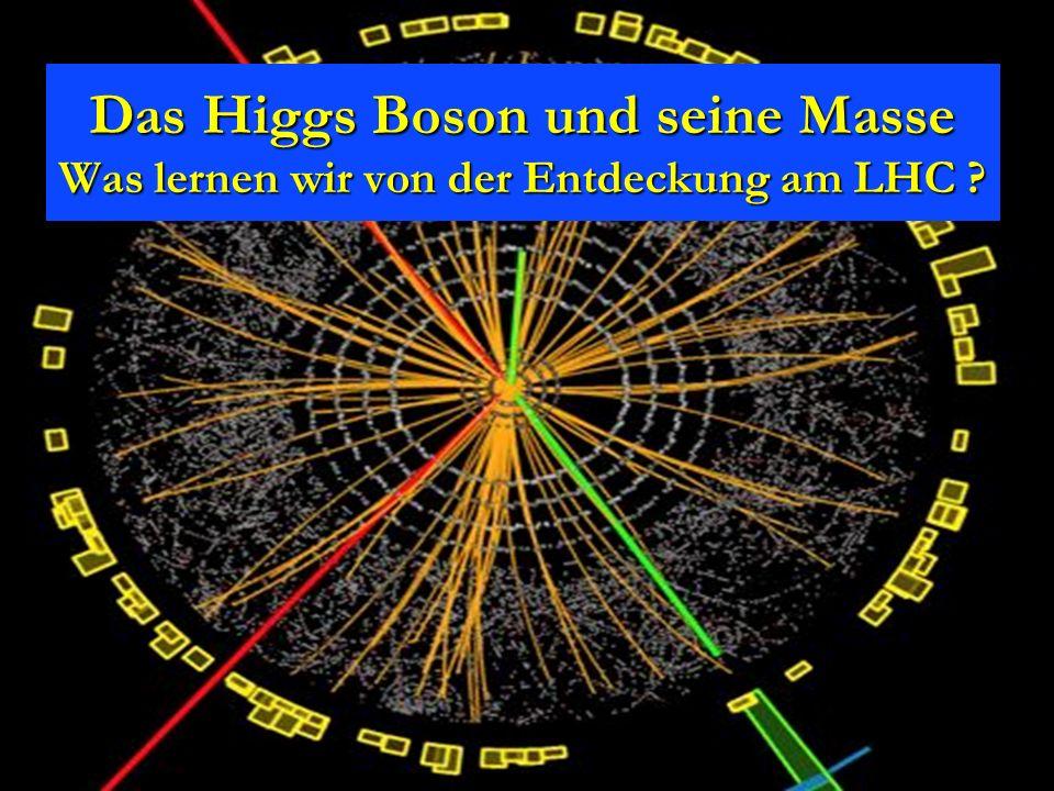 Das Higgs Boson und seine Masse Was lernen wir von der Entdeckung am LHC ?