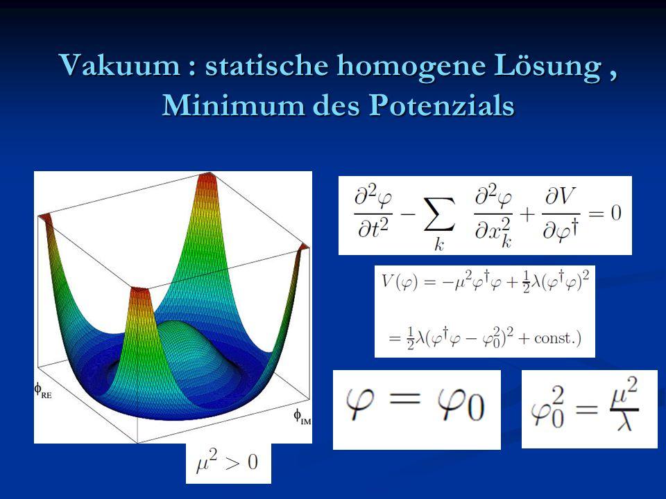 Vakuum : statische homogene Lösung, Minimum des Potenzials