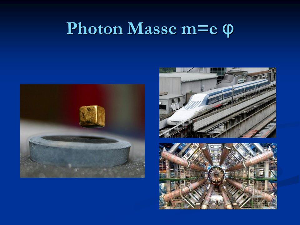 Photon Masse m=e φ