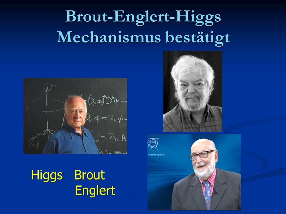 Brout-Englert-Higgs Mechanismus bestätigt Higgs Brout Englert Englert