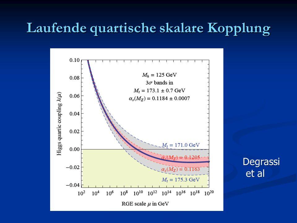 Laufende quartische skalare Kopplung Degrassi et al et al