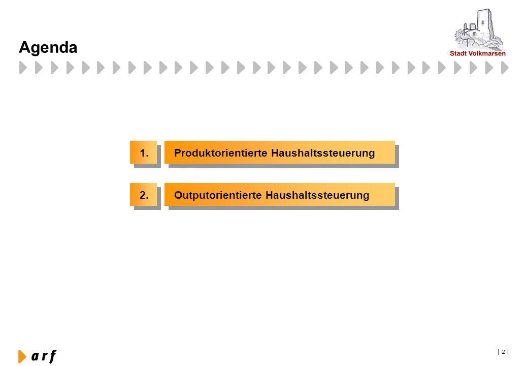   13   Agenda 1. Produktorientierte Haushaltssteuerung 2. Outputorientierte Haushaltssteuerung