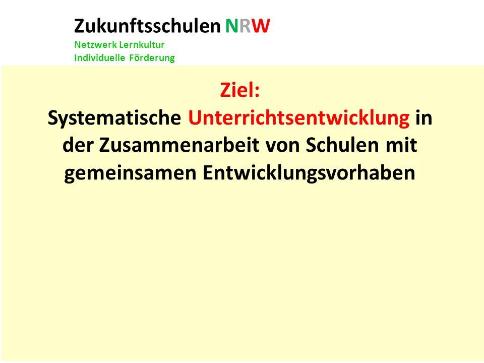 Zukunftsschulen NRW Netzwerk Lernkultur Individuelle Förderung Mit einer Hand lässt sich kein Knoten binden.
